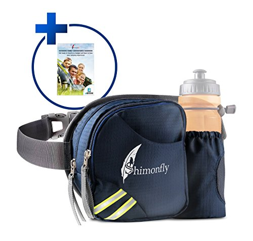 Hiking Waist Pack by Shimonfly | Waterproof Fanny Pack with Water Bottle Holder and pockets for large smartphones | Waist Bag for Women and - Sunglasses While Talking