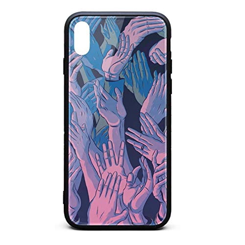 iPhone Xs Max Case 6.5 Inch Punky Handclaps Phone Cases Shock-Absorption Protective Case]()