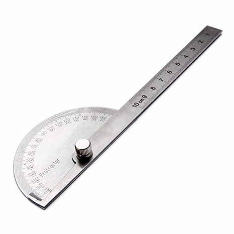 Lorsoul Acero Inoxidable de 180 Grados del prolongador Visor de ángulo Brazo de Medición 100 mm Herramienta de la Regla