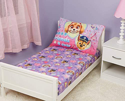EVERYDAY KIDS Paw Patrol Skye Toddler Bed Sheet and Pillowcase Set