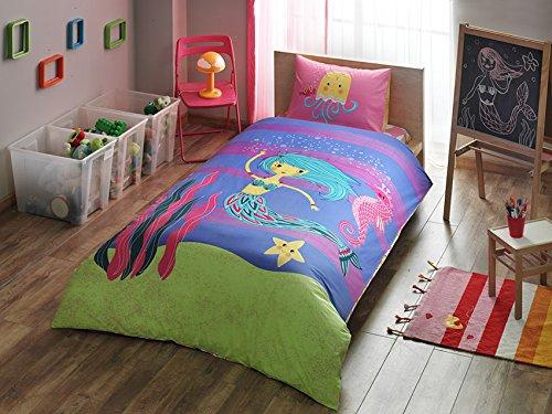 %100 Cotton The Little Mermaid Kid's Duvet/Quilt Cover Set Single / Twin Size Kids Bedding