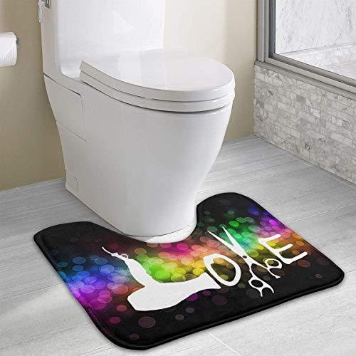 Bennett11 Hairdresser Hairstylist Love U-Shaped Toilet Floor Rug Non-Slip Toilet Carpets Shower Mat 19.2″x15.7″