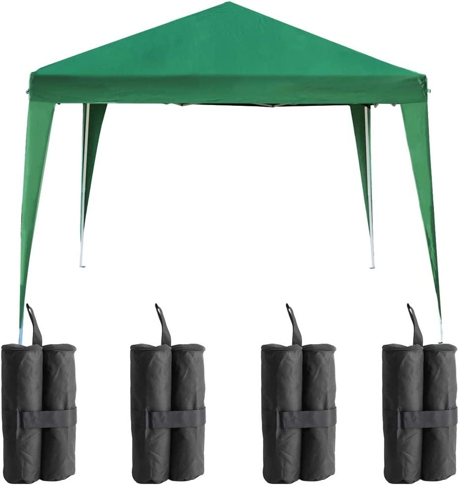 Hedii - Carpa Impermeable de 3 x 3 m (9 Metros Cuadrados), Color Verde, con 4 Paredes Laterales fáciles de Quitar y 4 Bolsas de Lija de Peso: Amazon.es: Jardín