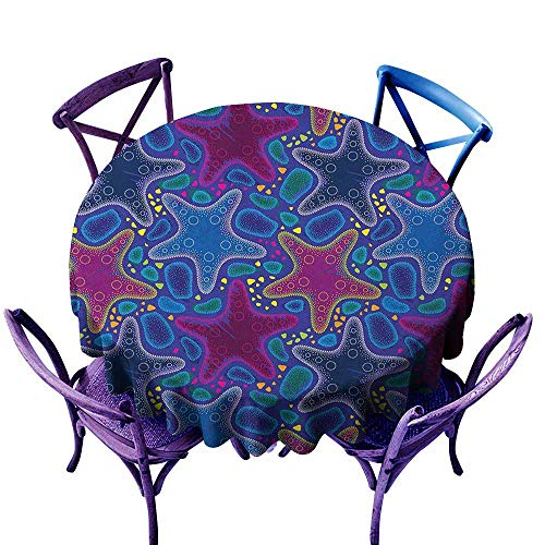 (familytaste Psychedelic,Tablecloth Round Tablecloth D 54