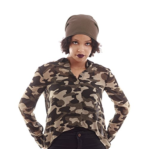 "Satin Lined Beanie Mocha Jersey Cap Unisex (Adult Unisex size 22"" (56cm) around the head)"