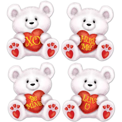 Valentine S Day Toys R Us : Mini valentine bear inch cutouts per pack shopping