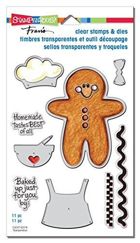 Stampendous CSD07 Gingerbread Baker Clear/Die (Halloween Ideas For Gingers)