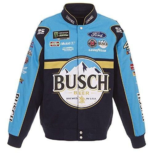 J.H. Design 2018 Kevin Harvick Busch Twill NASCAR Jacket Size Medium