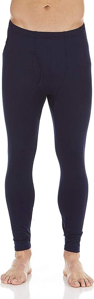 Bodtek Mens Thermal Underwear Pants Premium Long Johns Fleece Lined Base Layer Bottom