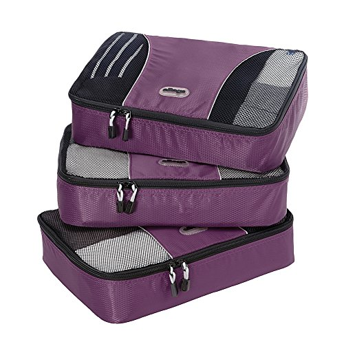 eBags Medium Packing Cubes - 3pc Set (Eggplant)