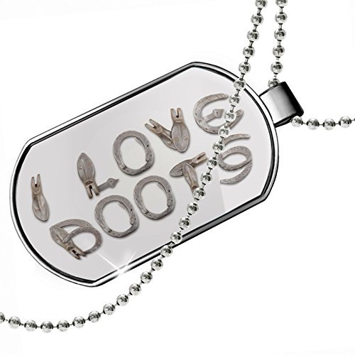 Dogtag I Love Boots Barn Horse Shoe Dog tags necklace - Neonblond by NEONBLOND