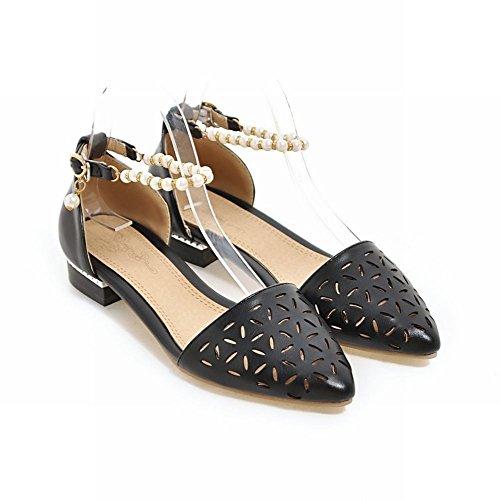 Charm Foot Womens Comfort Tallone Scarpe Con Cinturino Alla Caviglia Tacco Basso Nero