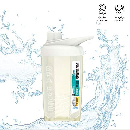 Shaker Bottle - 19.6Oz Sports Water Bottle white