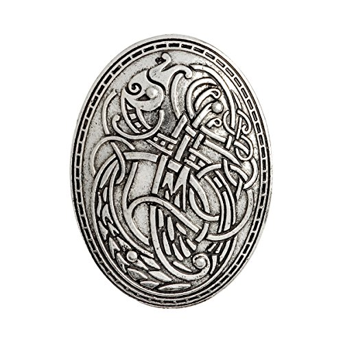 QIHOO Norse Medieval Viking Shield Symbol Brooch ()