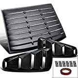 mustang gt louvers - Ford Mustang GT Base 2DR Coupe Black Side 1/4 Vent+Rear Window Louver
