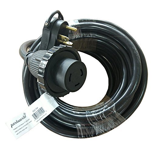 Parkworld 692194 RV Shore Power 30A Extension Cord Adapter TT-30P to L5-30R 36' ()