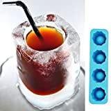 Cube bandeja molde hace vasos de chupito molde de hielo bandeja de hielo de novedad regalos verano de beber herramienta molde para vaso de chupito de hielo