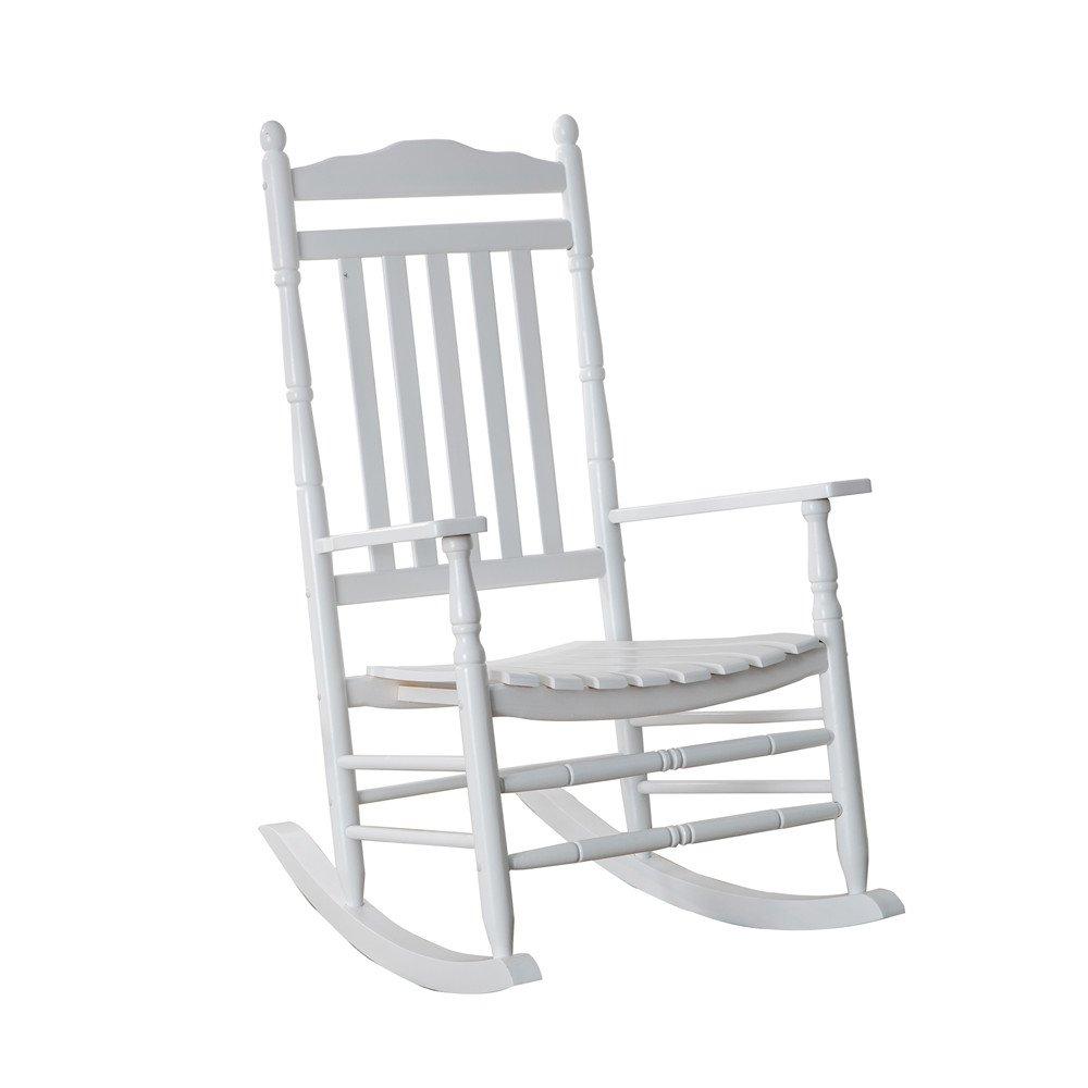 Amazoncom Bz Kd 22w Wooden Rocking Chair Porch Rocker White