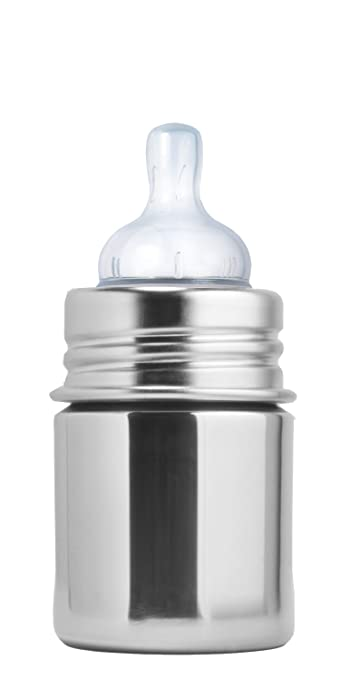 42490d415 Amazon.com   Pura Kiki Stainless Infant Bottle Stainless Steel with Natural  Vent Nipple