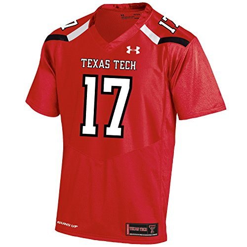 Under Armour NCAA Texas Tech Red Raiders FG205083A63 Childrens Official Sideline Jersey, Medium, Red by Under Armour