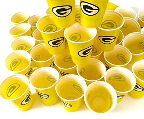 Green Bay Packers barbecue cookout 4th of july Jumbo party cups set of 36. Large plastic colorful 18 oz. game day plastic cups