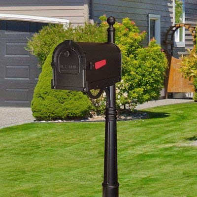 - Special Lite Savannah Curbside Mailbox with Ashland Mailbox Post Unit