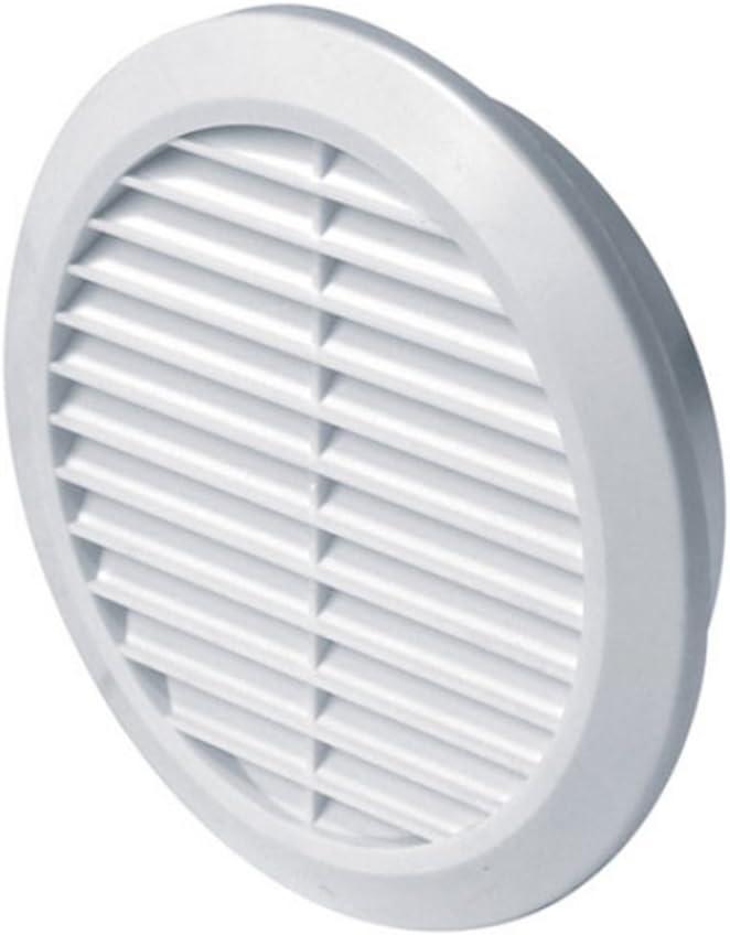 Rejilla para respiradero Raund 110, aplique de pared y suelo de ventilación redonda para techo de plástico blanco (T77)