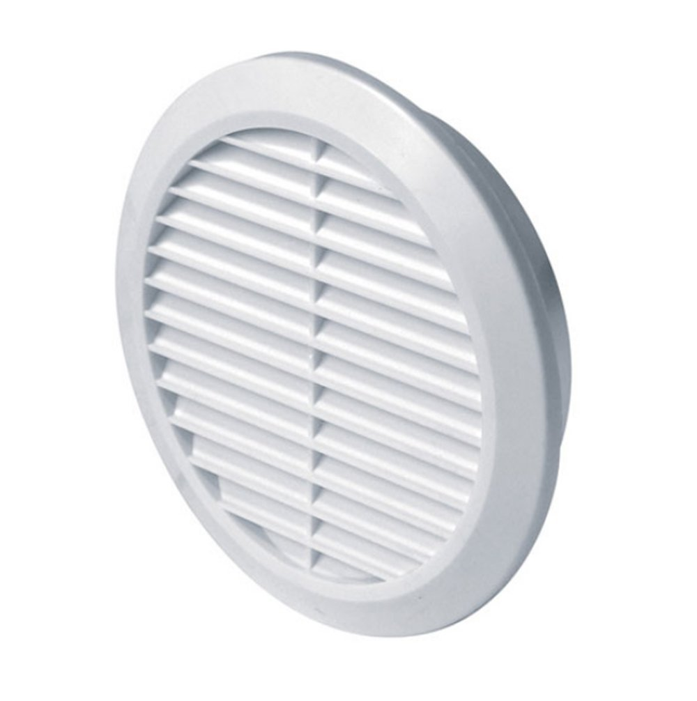 Net Round Duct Furniture Ventilation Ducting Cover TRU13 Mesh White Circle Air Vent Grille 100mm 4 with Fly Screen