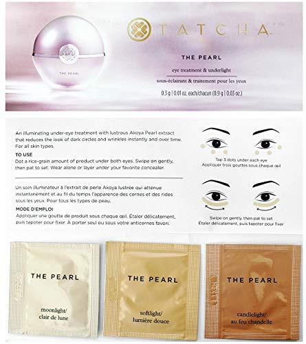 Tatcha The Pearl Tinted Eye Illuminating Treatment Sample Packet (Moodnlight, Softlight, Candlelight)