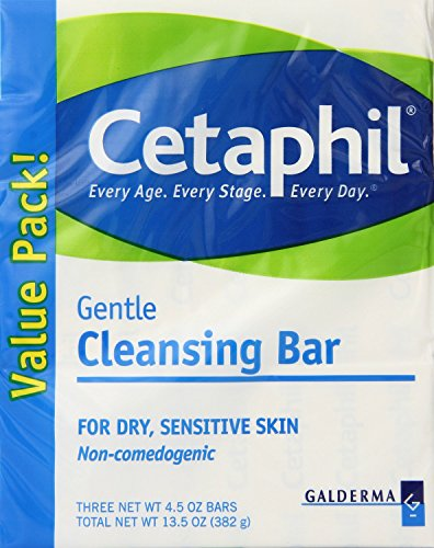 Cetaphil Gentle Cleansing Bar, 4.5 Ounce (3 Count)