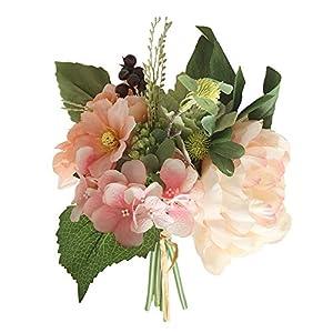 nikunLONG Flowers Peony Floral Wedding Bouquet 2 Pack Silk Flowers Bouquet Wedding Home Decoration 28