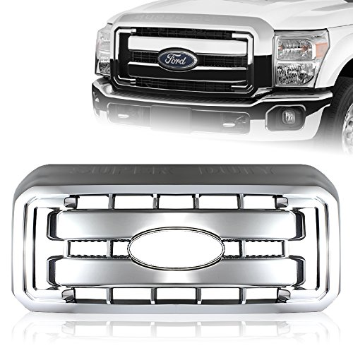 For 2011-2016 Ford F250 F350 Super Duty Chrome Grille Grill Full Overlay Cover
