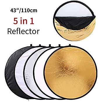 2-in-1 Julius Studio 43 Photography Photo Video Studio Lighting Disc Oval Reflector JGG2423 2 Colors Gold Silver