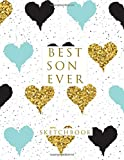 #10: Best Son Ever: Blank Sketchbook, 8.5 x 11 inches, Sketch, Draw and Paint