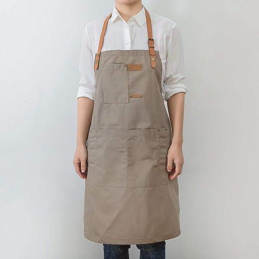 JFBZS Delantal Cocina, Delantal de Cocinero, Delantal de algodón ...