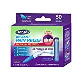 DenTek Instant Oral Pain Relief Maximum Strength Kit for Toothaches | 50 Count