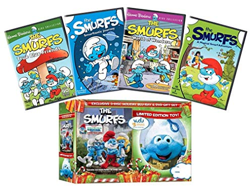 Ultimate Smurfs DVD Collection: The Smurfs: The Movie / True Blue Friends / Smurftastic Journey / World of Wonders / A Magical Smurf Adventure + Limited Edition Plush Toy + Bonus Blu-ray Edition of Th ()