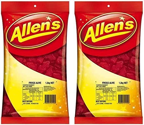 Bulk Lot 2.6kg x Allens Frogs Alive Red Lollies Buffet Candy Party Sweets Allen