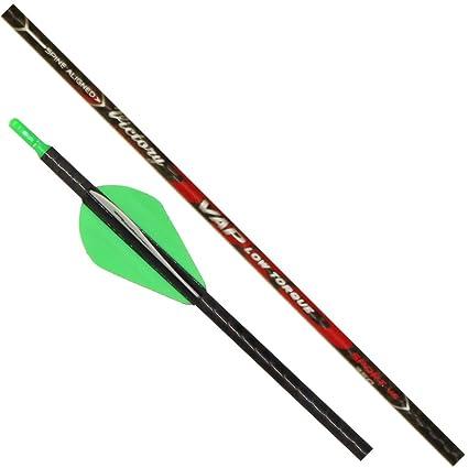 6pk Victory Archery VAP Low Torque TKO Elite 400 Arrows with Blazer Vanes