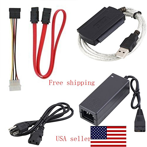 USB 2.0 to IDE SATA 2.5 3.5 Hard Drive HD HDD Adapter Converter Cable - 2