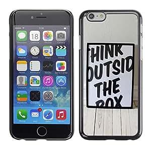 "For Apple Iphone 6 Plus / 6S Plus ( 5.5 ) , S-type Piense divertido fuera de la caja"" - Arte & diseño plástico duro Fundas Cover Cubre Hard Case Cover"
