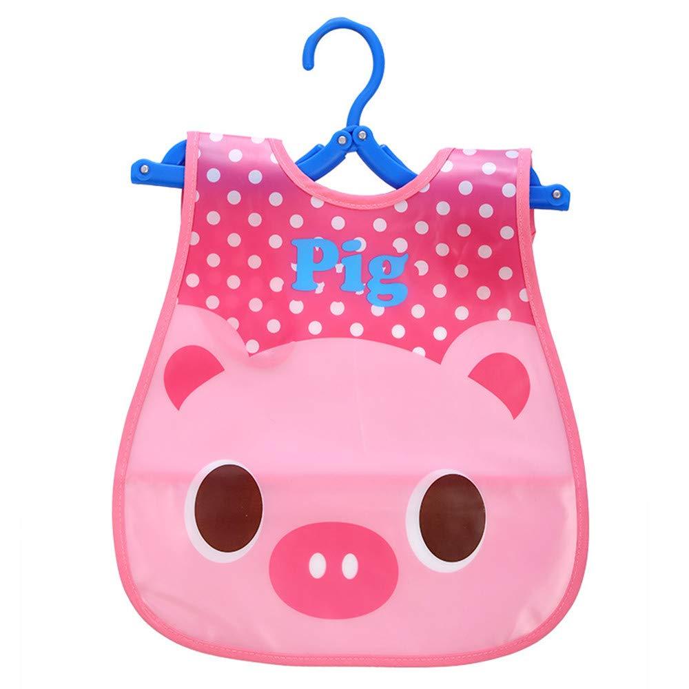 QinMM Animal Baberos para beb/és Impermeable Baberos EVA Suave para beb/és Saliva Goteo Baberos Adecuado para beb/é de 0-4 a/ños.