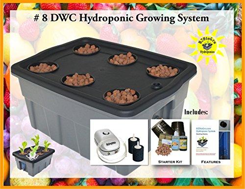 DWC Hydroponic BUBBLER Kit # 8 20″ x 15″, 6 site by H2OtoGro