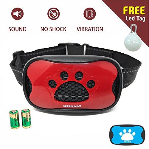 Best buy QOUKETT Bark Collar, Barking Control Device Humane Dog Training Collar For Small Medium Large Dogs