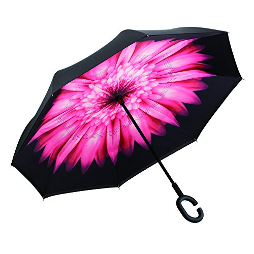 Amagoing Car Inverted Double Layer Windproof Reverse Umbrella for Rain Sun