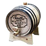 Personalized Whiskey Barrel - Engraved Wine Barrel - Custom Oak 2 Liter Barrel - Barrel Aged Design