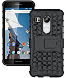 for LG Nexus 5X ColorBox Kickstand Back Case - Solid Black Protective Phone Cover Shell