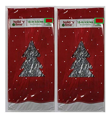 2000 STRANDS SILVER ICICLES TINSEL TREE DECORATION HOLIDAY TOYS GIFTS CHRISTMAS from Unbranded