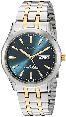 ess Steel Dress Watch, Color Two Tone (Model: PXN197X) (Two Tone Pulsar Fashion Watch)