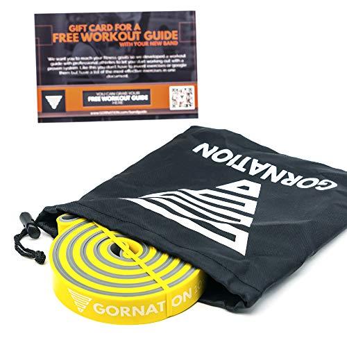 GORNATION® Tweelaagse premium weerstandsbanden met videocursus en tas – De fitnessband met praktisch weerstandsniveau in…